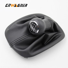 5 / 6 Speed Car Gear Shift Knob Lever Shifter Stick Gaiter Boot Cover for VW Passat B5 B5.5 B6 1996-2005 Car Styling Accessories 6 speed leather car manual gear mt shift knob gaitor boot for volkswagen vw passat b6