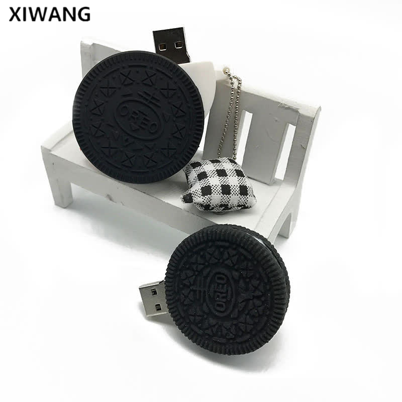 new usb flash drive 128gb Oreo cookies memory usb 2 0 pen drive 16gb 4GB 8GB pendrive 32GB 64GB memory stick wholesale best gift in USB Flash Drives from Computer Office