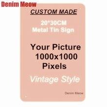 Hojalata de Metal personalizada signos Retro placa casa decoración de pared etiqueta arte del hierro Poster personalizar placas 20x3 0cm/15x3 0cm/30x30cm