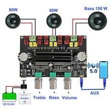 2*80 واط + 100 واط بلوتوث 5.0 TPA3116D2 السلطة جهاز تضخيم الصوت مجلس 2.1 قناة TPA3116 الصوت ستيريو التعادل AUX الفئة D أمبير