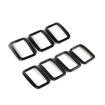 New Front Grille Grill Insert Ring Cover Trim Fit For Jeep Grand Cherokee 2017 2018 2019