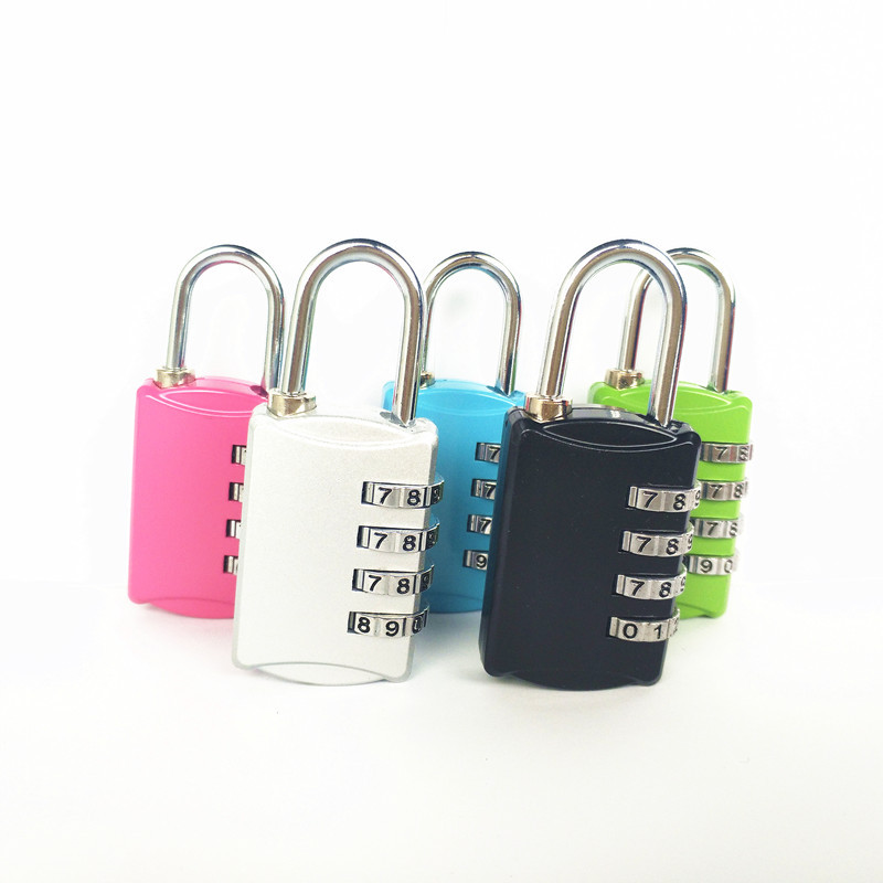 2020 New 4 Dial Digit Password Lock Suitcase Luggage Metal Code Nmuber Security <font><b>TSA</b></font> Combination <font><b>Padlock</b></font> for Zipper Bag Backpack image
