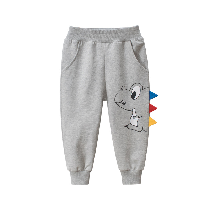 Boys Sport Pants For 2-7 Yeas Solid Baby Girls Casual Child Jogging Infant Toddler Print Cartoon Dinosaur Kids Children Trousers 2