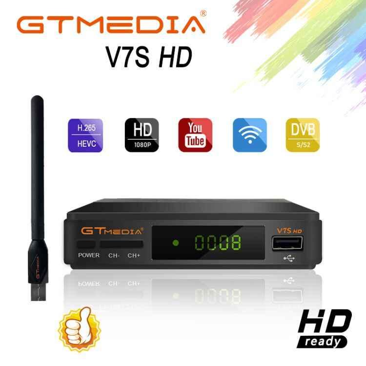 Decodificador satelitarny odbiornik TV Freesat v7s aktualizacja do gtmedia v7s hd z USB Wifi 1 rok europa CCcam Cline hiszpania v8 nova