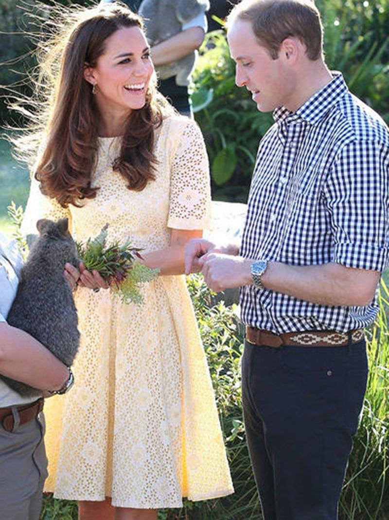 Kate Middleton Lace A-Line Dress Women Hollow Fashion Lace Sweet Dresses W045