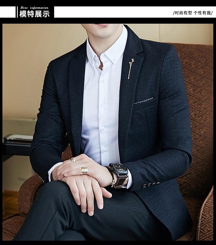 H9bf43f26724f41f58f7c8a3fd38599dft - Striped Blazer Mens Slim Fit Blazer Slim Masculino Business Casual Mens Stylish Blazer Spring Autumn Dot  Striped Blazers Mens