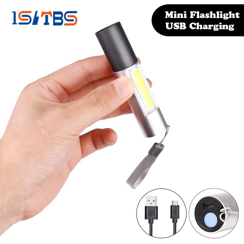 Светодиодный мини светильник, портативный фонарь, уличный водонепроницаемый Встроенный аккумулятор, USB Перезаряжаемый, для пеших прогулок, рыбалки, кемпинга, светильник, вспышка, светильник s|Фонарики и осветительные приборы| | АлиЭкспресс