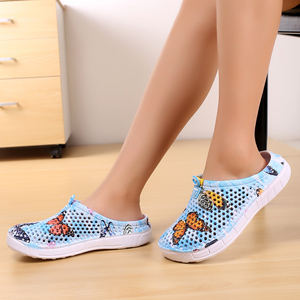 Image 2 - Summer Womens Slippers Slip 0n Clogs Shoes Quick Dry Beach Swimming Water Shoes Creative Butterfly Sandals