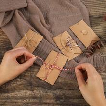 Envelope clássico do presente do envelope do convite do casamento dos envelopes da janela de papel de kraft 100 pces mini