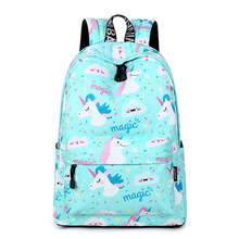 CIKER Women Backpack Unicorn Cute School Printing Backpack Bookbag School Bags For Teenage Girls Mochila Travel Softback mallrat women unicorn backpack 3d printing travel softback bag mochila school cat backpack notebook for girls backpacks