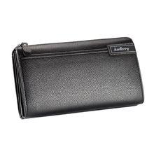 Men PU Leather Clutch Long Wallet ID Credit Card Holder Purse Handbag Zipper Phone Pouch Bag цена 2017