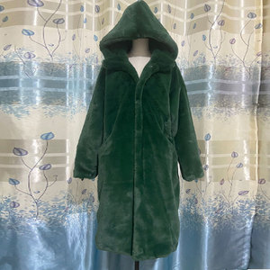 Image 5 - Abrigo de piel de imitación de conejo para mujer, abrigo largo de piel de lujo, abrigo de tapeta holgada, abrigo grueso y cálido de talla grande, abrigos de felpa para mujer