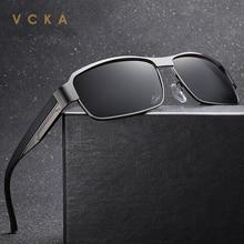 VCKA 2020 New Sunglasses Men Polarized Square Metal Frame Ma