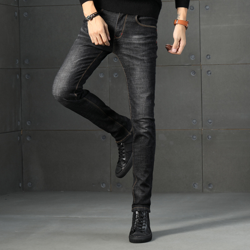 2019 Summer Men New Style Jeans Young MEN'S Korean-style Slim Fit Skinny Pants Versitile Fashion Casual Long Pants