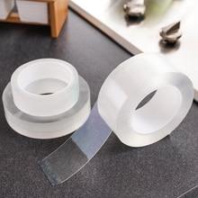 Двухсторонняя нано-лента, прозрачная не оставляющая следов, многоразовая водонепроницаемая клейкая лента, принадлежности для уборки дома, ...