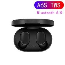 A6S TWS Bluetooth 5.0 Earphones Hifi Wireless Headphones Bass Gaming Headset Sport Earbud