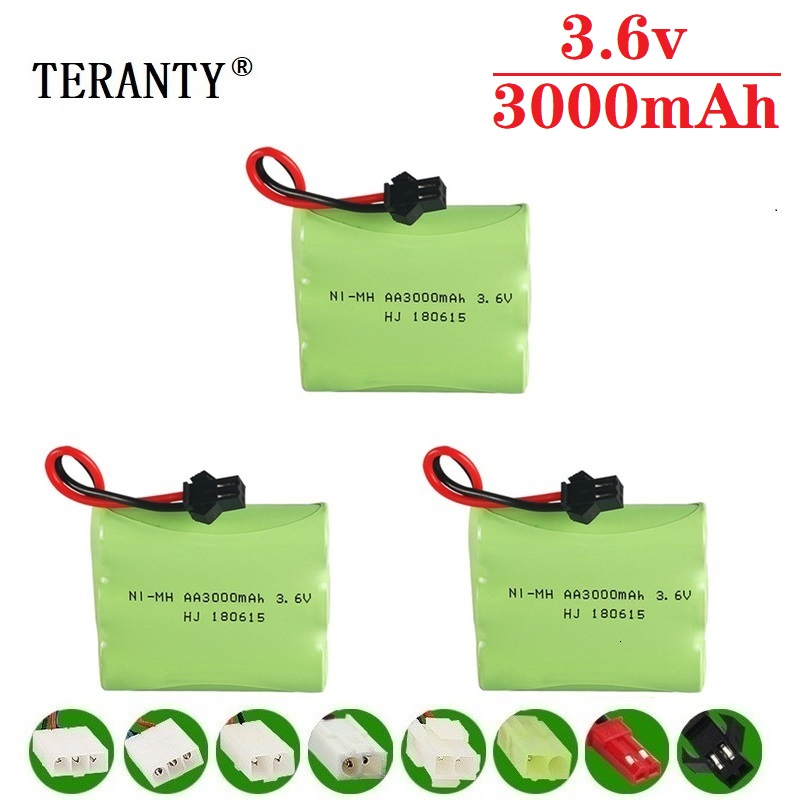 Upgrade 3.6v 3000mah NiMH Battery For Rc Toys Cars Tanks Trucks Robots Guns Boats AA Ni MH 3.6v Rechargeable Battery Pack 3pcs|Parts & Accessories| |  - title=