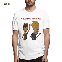 Beavis And Butthead Short Sleeve Cartoon Design For Man Free Shipping 3D Print Quality Cotton Tee