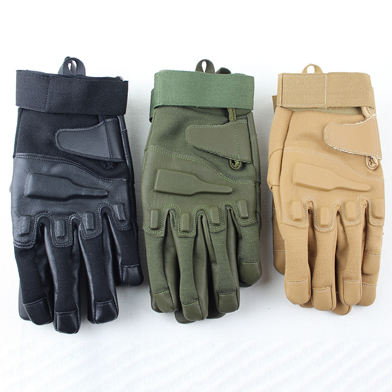 Black Hawk Tactical Training Gloves Outdoor Riding Sports Fitness Mountaineering Protection Full-fingered Gloves
