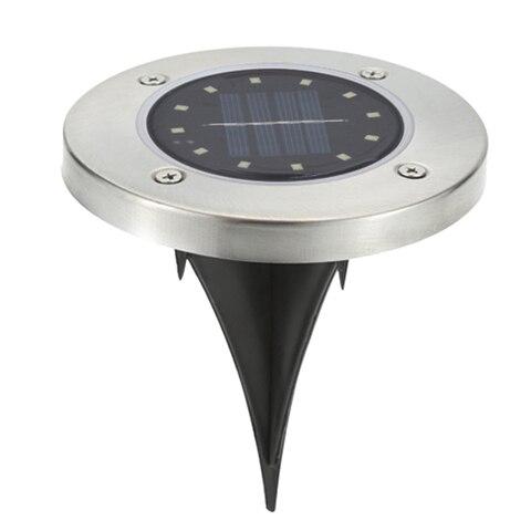 4 8 pcs energia solar enterrado luz da escada lampada chao caminho ao ar livre