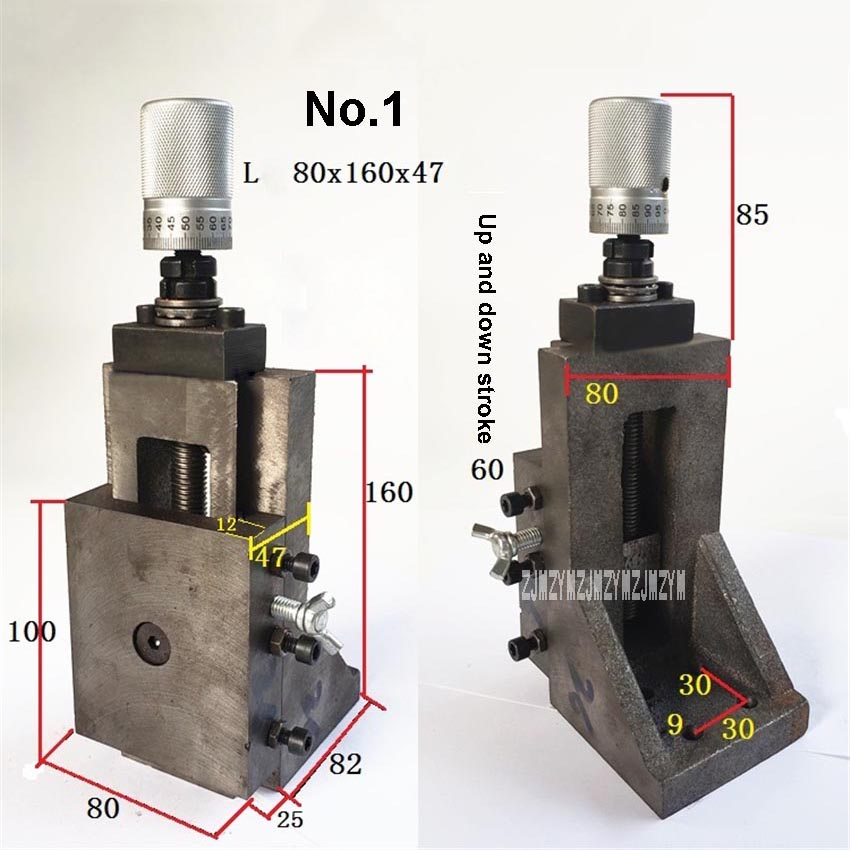 Cylindrical Scale Vertical Right Angle Dovetail Slot Wwith Rod Screw Carriage Slide Table Pallet L-type Lifting Slide No. 1