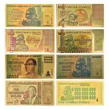 $ Z100 трлн/100 квинтриллион/5 октиллев/100 декальон долларовые банкноты из золотой фольги Реплика бумажные деньги бизнес подарок