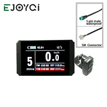 EJOYQI KT Ebike LCD8H Display 24V 36V 48V USB SM Connettore Impermeabile Accessori Per Biciclette Elettriche E-bike Display LCD
