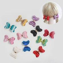 2 шт 3in галстуки бабочки с блестками микс шпильки Женские аксессуары