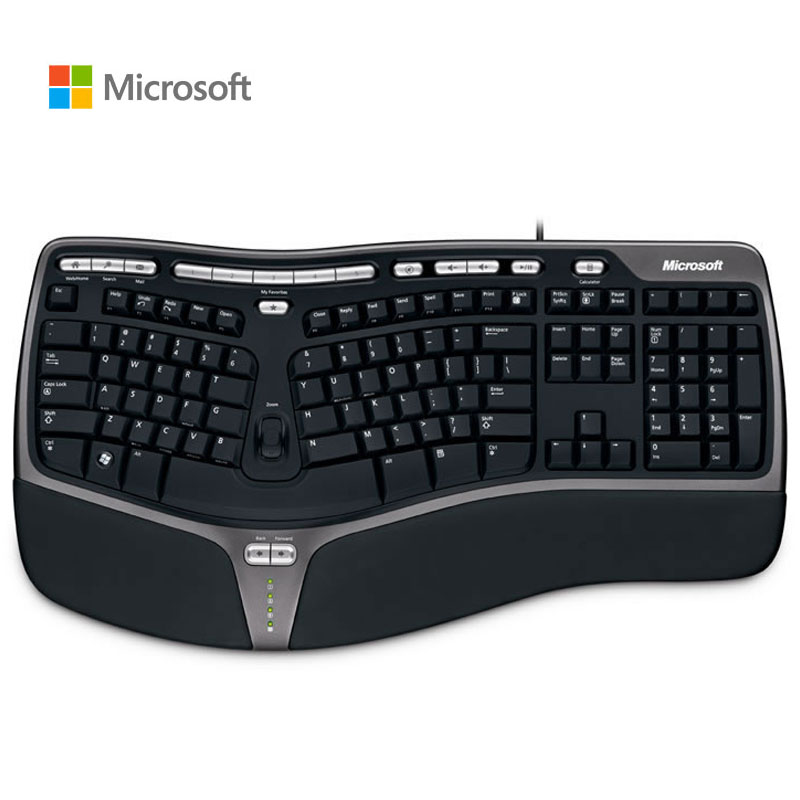 Microsoft Ergonomics 4000 Keyboard Ergonomics Design Multimedia Curve Keyboard Wired Keyboard English Keypad PC Computer