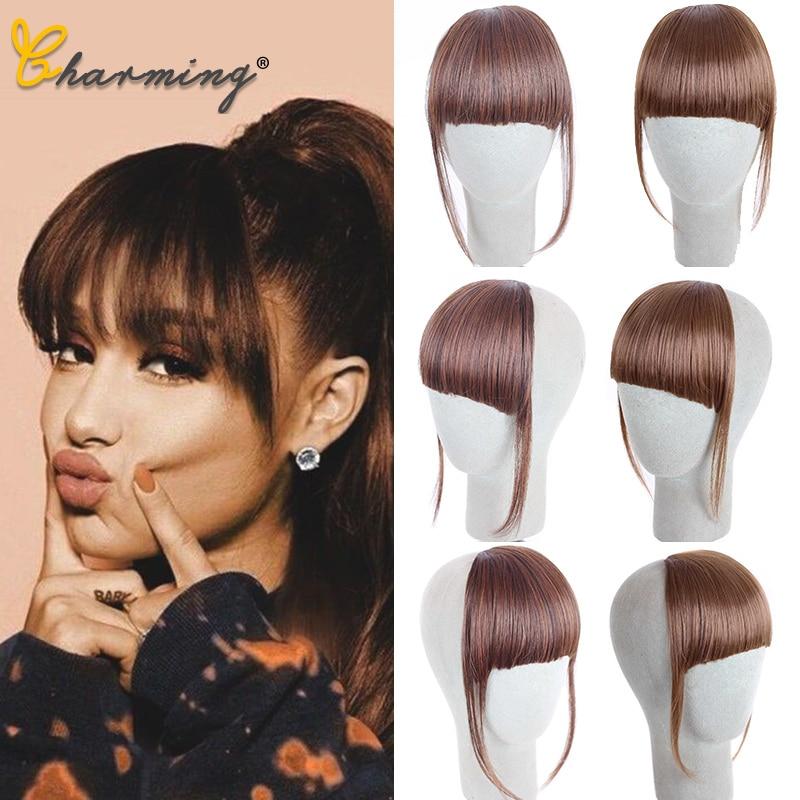 CHARMING HAIR 11 Color Clip In Hair Bangs Hairpiece Synthetic Fake Bangs Hair Piece Clip In Hair Extensions