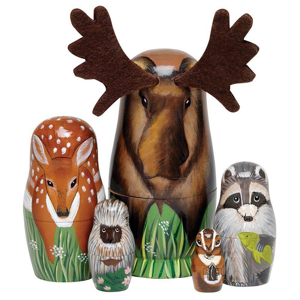 16 Styles Boys Girls Wooden Matryoshka Dolls Toys Russian Nesting Dolls Best Wishes Kids Christmas New Year Gift Handmade Crafts