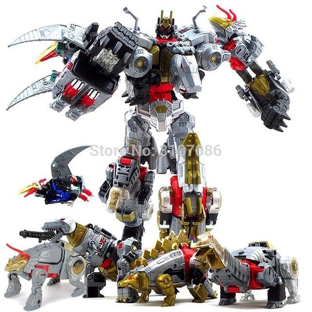 Robot de figurine 5 en 1, jouets de Transformation Dinoking volcanus Grimlock, boue, snarm Swoop slash Dinobots 5 en 1