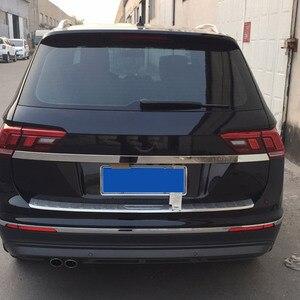 Image 4 - Vtear для VW Tiguan тигуан 2020 2019 2018 задний багажник отделка двери Наружные молдинги аксессуары из нержавеющей стали Автоматическая задняя дверь защита,автомобильные товары