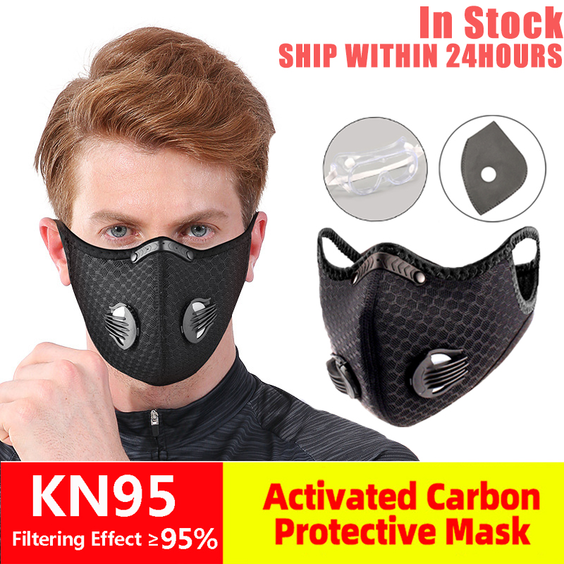 Bicycle Mask Filter KN95 Anti Breathable Dust-proof Bicycle Respirator Sports Protection Dust Mask Drip-proof