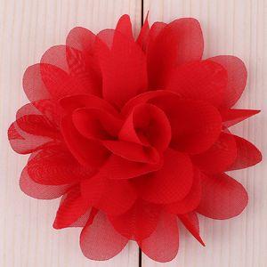 """Image 5 - Buquê boutique de flores de chiffon para cabelo, 20 peças, 5cm, 1.97 """", acessórios para cabeça de cabelo, tecido sem uso diy clipes clipes"""