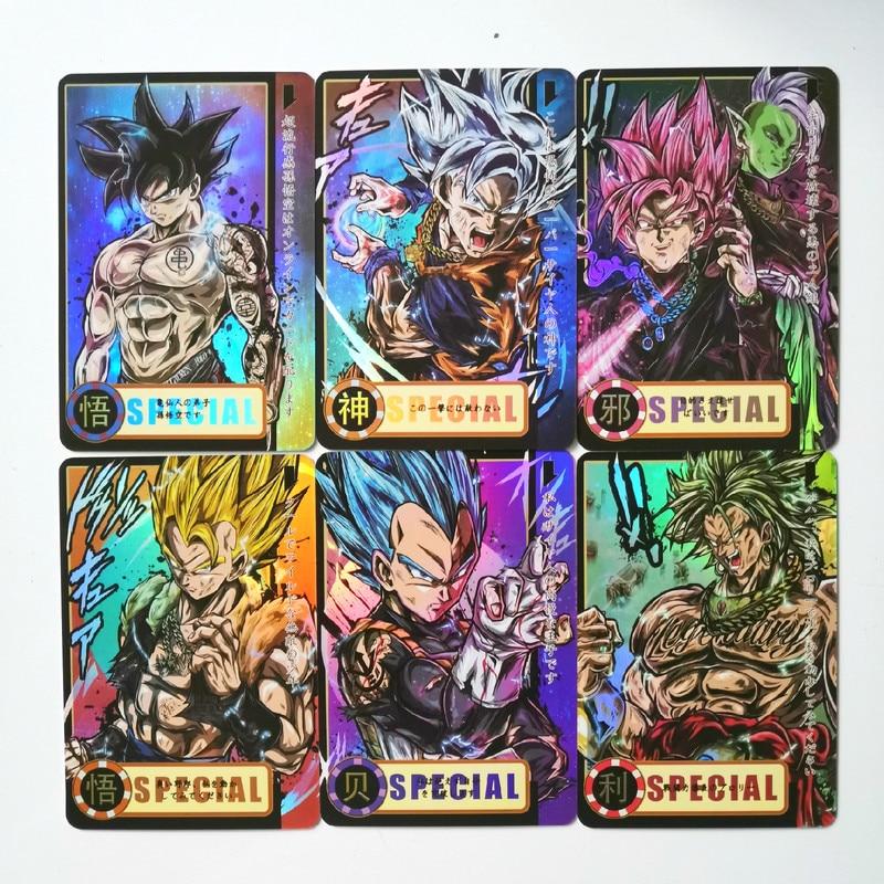 13pcs/set Super Dragon Ball Z Super Saiyan Heroes Battle Card Ultra Instinct Goku Vegeta Game Collection Cards Free Shipping