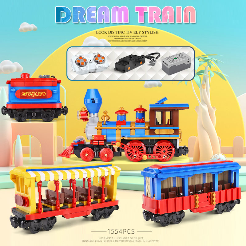 MOULD KING 12004 The APP RC Control Dream Train