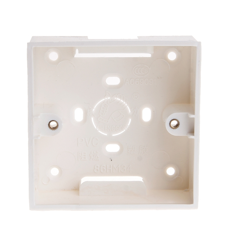 T8NA 86X86 PVC Junction Box Wall Mount Cassette For Switch Socket Base