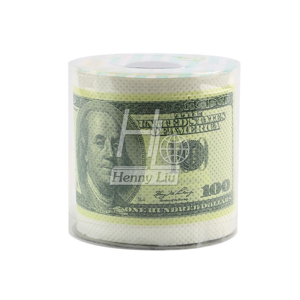 2019 1pc One Hundred Dollar Bill Money Toilet Roll -  Toilet Paper Novelty Toilet Tissue