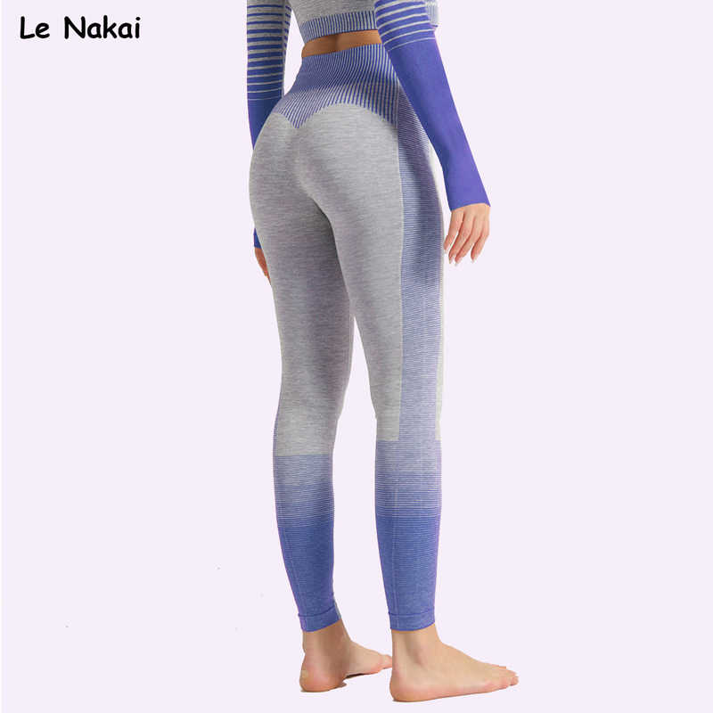 Le Nakai Naadloze Leggings Sport Fitness Vrouwen Hoge Taille Sport Gym Leggings Push Up Yoga Broek Winter Fitness Kleding