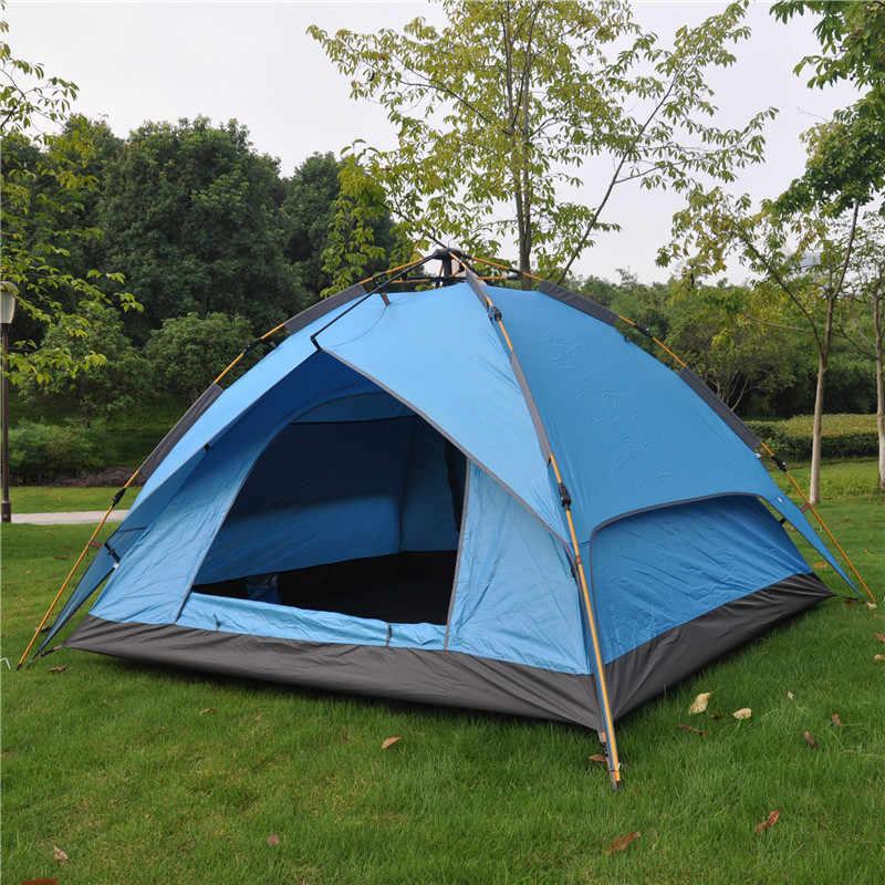 JungleKing 3-4 personnes en plein air automatique printemps tente Camping pluie et UV Protection tente Camping tente pique-nique voiture quatre saisons tente
