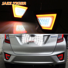 ג אז נמר רב פונקציות רכב LED אחורי ערפל מנורת בלם אור איתות אור הפוך מנורת עבור הונדה Fit ג אז 2015 2016 2017
