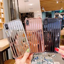 Retro fashion plating Golden silver rose gold Phone case for iPhone 7 7 plus 6s 8 Plus xs max case silicon cover for iPhone X XR все цены