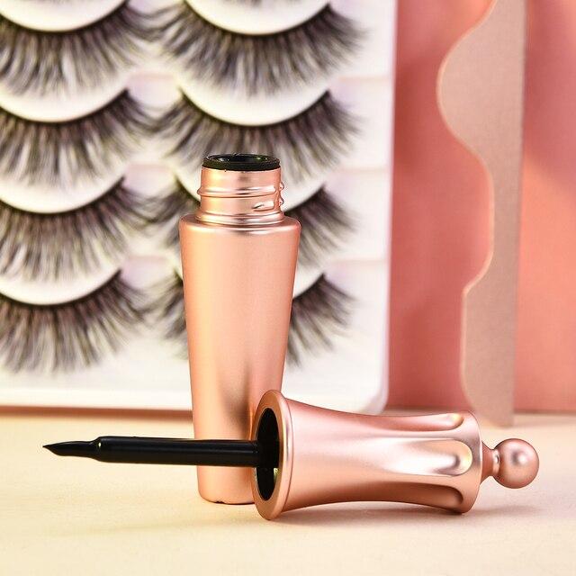5/3 Magnet Eyelash Magnetic Liquid Eyeliner & Magnetic False Eyelashes & Tweezer Set Waterproof Long Lasting Eyelash Extension 3