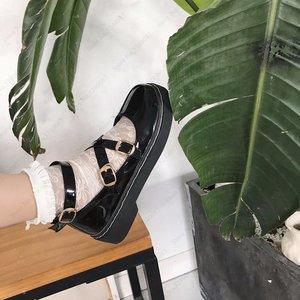 Image 5 - 일본식 로리타 카와이 여자 학교 신발 JK 유니폼 Cos 아카데미 벨트 버클 가죽 신발 공주 애니메이션 코스프레 Coatumes