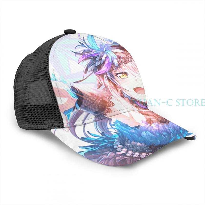 Bandori yukina minato design (violet) casquette de basket hommes femmes mode partout imprimé noir unisexe adulte chapeau