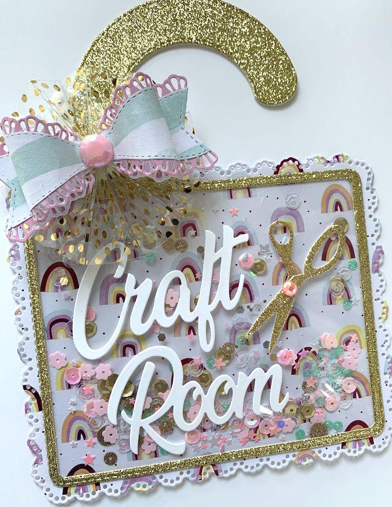 KSCRAFT Craft Room Door Hanger Metal Cutting Dies Stencils For DIY Scrapbooking Decorative Embossing DIY Paper Cards