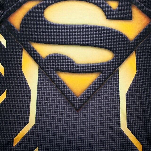 Мужская компрессионная 3D футболка Supermen 5