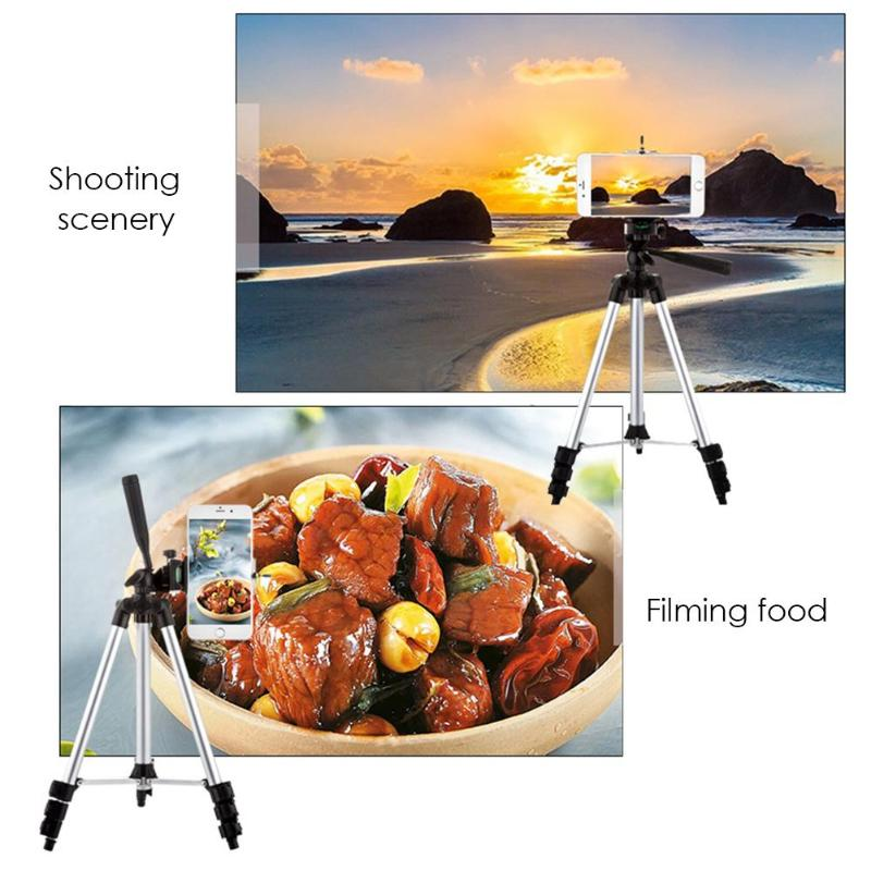 Foldable-Digital-Camera-Smartphone-Tripod-Holder-Stand-Professional-1-4-Screw-360-Degree-Fluid-Head-Tripod
