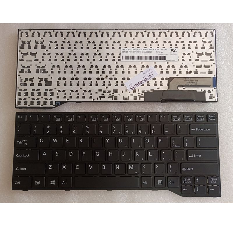 GZEELE New US English Laptop Keyboard For Fujitsu Lifebook E733 E744 E734 E743 E544 Black FRAME Laptop Keyboard